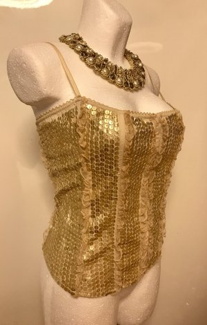 bebe Corsage Top gold-colored