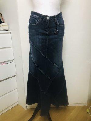 BeBe Damen Jeans Rock Stretch Tulpen Form lang L