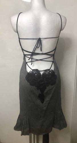 Bebe edles sexy Damen Kleid Silber Grau M Neu