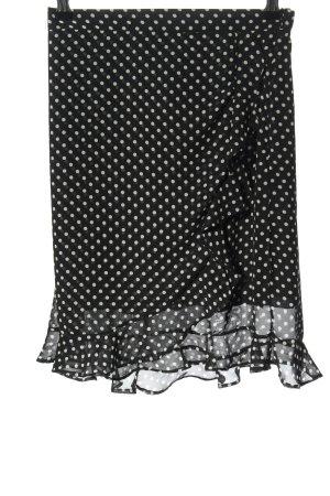 bebe Faltenrock schwarz-weiß Punktemuster Casual-Look