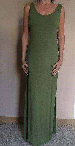 Bebe Maxikleid mit Seitenschlitz Gr. M/L mit eingenähtem Unterkleid grün wie Neu!