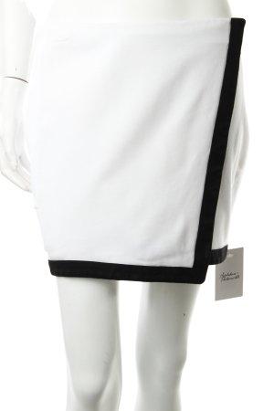 Minirock schwarz-weiß