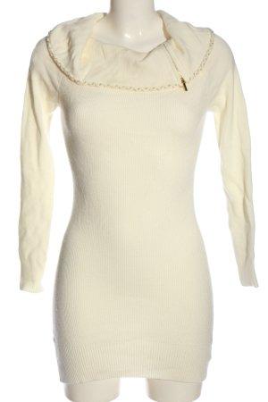 bebe Swetrowa sukienka w kolorze białej wełny-złoto W stylu casual