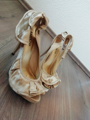 bebe Pumps 39 Satin gold