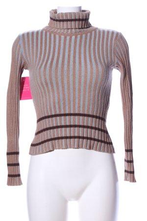 bebe Turtleneck Sweater striped pattern casual look