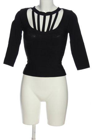 bebe Kraagloze sweater zwart casual uitstraling