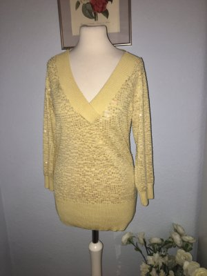 Bebe schöner gelber Pullover aus Seide