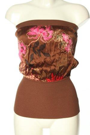 bebe Top sin hombros estampado floral look casual