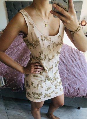 bebe Mini-jurk nude-goud