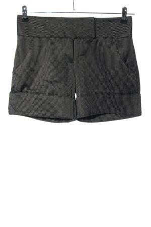 bebe Shorts schwarz-weiß Streifenmuster Casual-Look