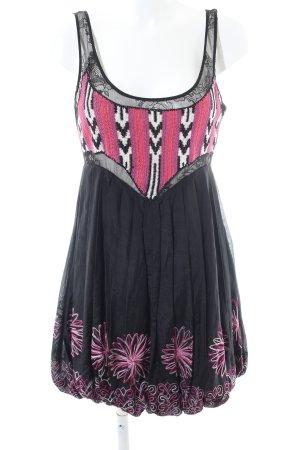 bebe Kanten jurk bloemenprint casual uitstraling
