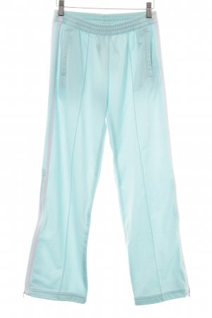 bebe Sporthose babyblau-weiß Streifenmuster Casual-Look