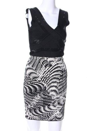 bebe Stretchkleid schwarz-weiß abstraktes Muster Elegant