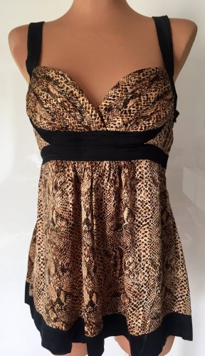 BEBE top, snake print, bustier, size M