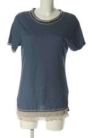 bebe Boothalsshirt blauw casual uitstraling