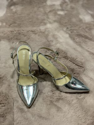 Bebo High Heels silver-colored
