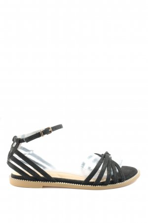 Bebo Strapped Sandals black casual look