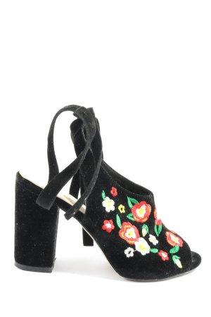 Bebo Sandalen met bandjes en hoge hakken zwart elegant