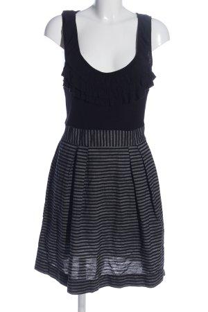 BeBop Robe stretch noir-gris clair motif rayé style décontracté