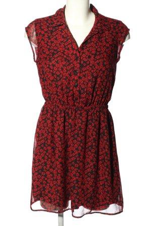 BeBop Robe courte noir-rouge imprimé allover élégant