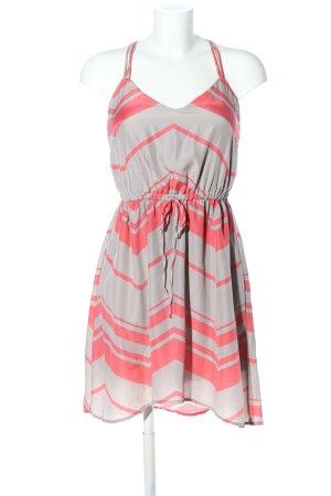 BeBop Sukienka mini różowy-jasnoszary Wzór w paski W stylu casual