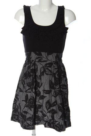 BeBop Robe courte noir-gris clair imprimé allover style décontracté