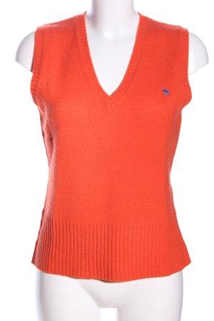 Beck concept Fijn gebreide cardigan licht Oranje casual uitstraling