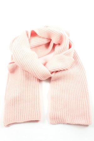 Beck concept Écharpe en laine rose torsades style décontracté