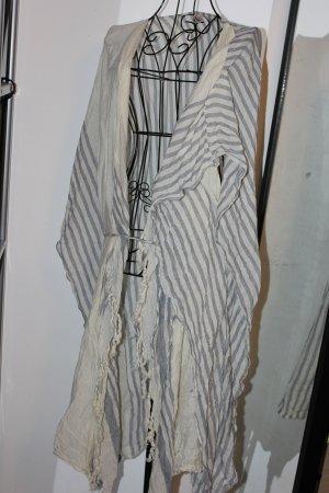 Beck Söndergaard Peleryna w kolorze białej wełny-jasnoniebieski Bawełna