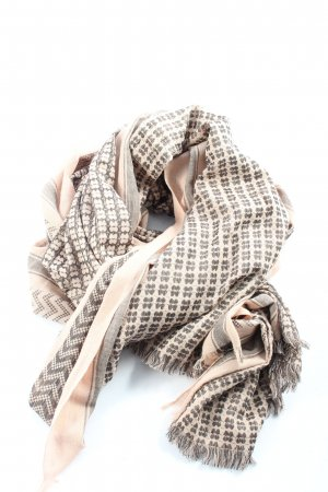 Beck Söndergaard Fringed Scarf cream-black allover print casual look