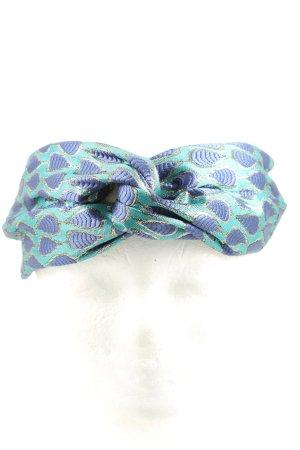 Beck Söndergaard Haarband türkis-blau abstraktes Muster Casual-Look