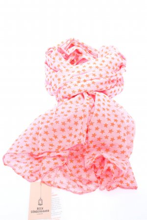 Beck Söndergaard Pañoleta rosa estampado temático look casual