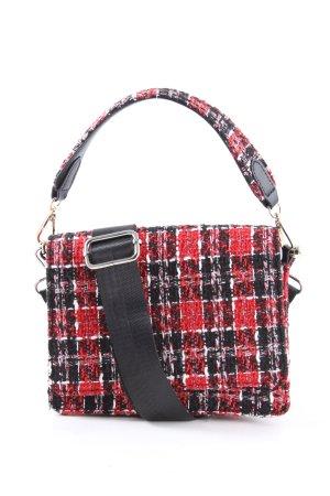 Beck Söndergaard Mini sac rouge-noir motif à carreaux style décontracté