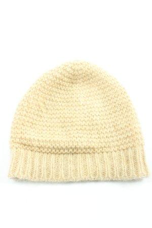 Beck Söndergaard Chapeau en tricot crème torsades style décontracté