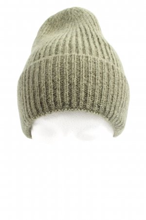 Beck Söndergaard Knitted Hat khaki cable stitch casual look