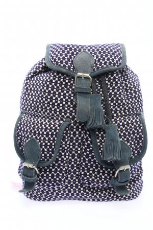 Beck Söndergaard School Backpack white-blue abstract pattern casual look