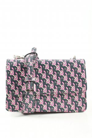 Beck Söndergaard Schultertasche schwarz-pink abstraktes Muster Casual-Look