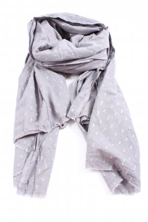 Beck Söndergaard Shoulder Scarf light grey-white allover print casual look