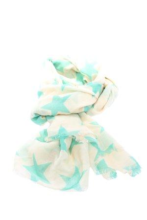 Beck Söndergaard Écharpe en soie blanc cassé-turquoise imprimé allover
