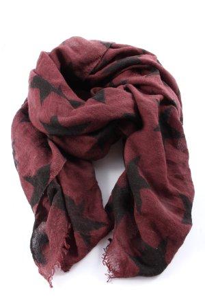 Beck Söndergaard Zomersjaal rood-zwart volledige print casual uitstraling