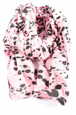 Beck Söndergaard Summer Scarf pink-black animal pattern casual look