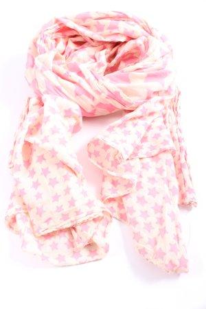 Beck Söndergaard Sciarpa estiva rosa-crema stampa integrale stile casual