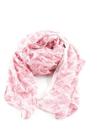 Becksöndergaard Écharpe d'été rose-blanc cassé imprimé allover