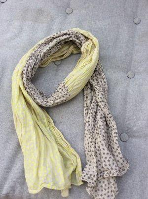 Beck Söndergaard Sternchen Schal in neon gelb, grau