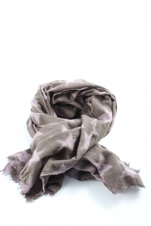 Beck Söndergaard Knitted Scarf light grey-pink allover print casual look