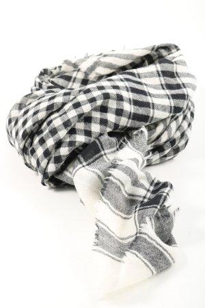Beck Söndergaard Écharpe en laine noir-blanc motif à carreaux