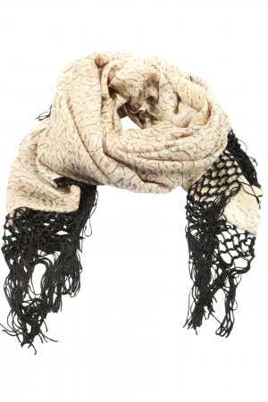 Beck Söndergaard Bufanda de lana crema-negro look casual