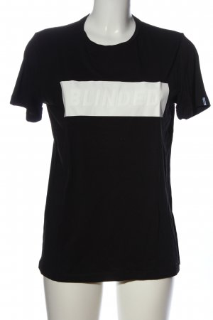 BECK T-Shirt black-white printed lettering casual look