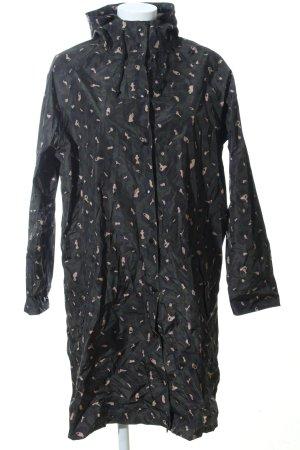 Becksöndergaard Regenjacke schwarz-wollweiß abstraktes Muster Casual-Look