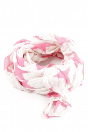 Becksöndergaard Schoudersjaal wit-roze volledige print casual uitstraling